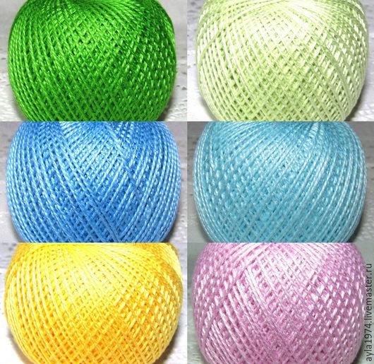 """Вышивка ручной работы. Ярмарка Мастеров - ручная работа. Купить Нитки """"Ирис"""" , 6 цветов. Handmade. Комбинированный, ирис"""