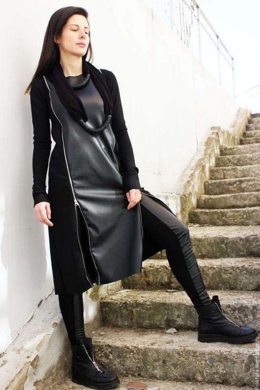 """Платья ручной работы. Ярмарка Мастеров - ручная работа. Купить Платье """"Long Zippers"""" D0029. Handmade. Платье, платье летнее"""