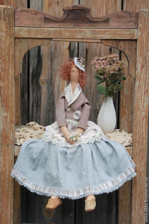 Куклы Тильды ручной работы. Ярмарка Мастеров - ручная работа. Купить Тильда Клотильда. Handmade. Серый, уютная, кружево