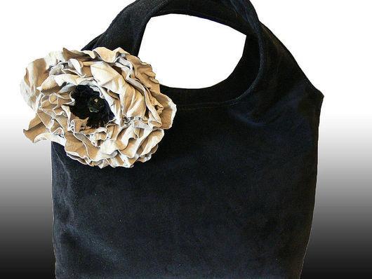 Handbags handmade. Livemaster - handmade. Buy Bag and brooch (2in1).'Black milky poppy'.Milky color, theatre