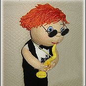 Куклы и игрушки ручной работы. Ярмарка Мастеров - ручная работа Кукла саксофонист. Handmade.