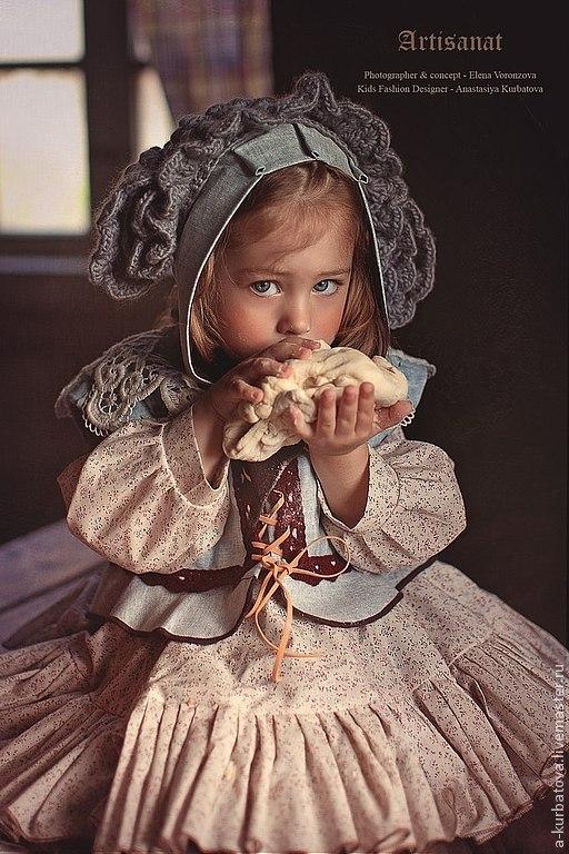 Карнавальные костюмы ручной работы. Ярмарка Мастеров - ручная работа. Купить Комплект для девочки.. Handmade. Бежевый, цветочный, винтажный стиль