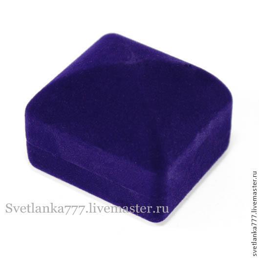 Упаковка ручной работы. Ярмарка Мастеров - ручная работа. Купить Футляр для кольца синий, флокированный, подарочный. Handmade. Тёмно-синий