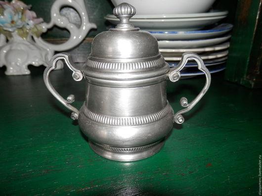 Винтажная посуда. Ярмарка Мастеров - ручная работа. Купить Сахарница винтажная олово. Handmade. Сахарница, кухонный декор, подарок