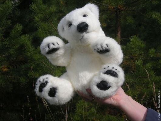 Мишки Тедди ручной работы. Ярмарка Мастеров - ручная работа. Купить Снежный. Handmade. Белый, подарок на новый год, нат шерсть