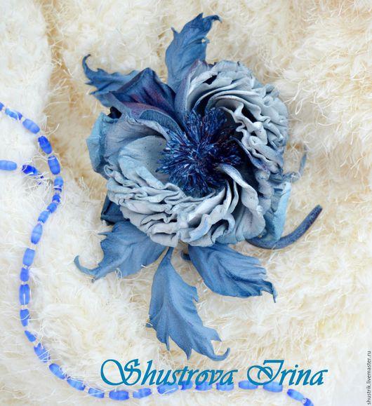 """Цветы ручной работы. Ярмарка Мастеров - ручная работа. Купить Роза """"Холодное сердце"""". Handmade. Комбинированный, роза-брошь"""