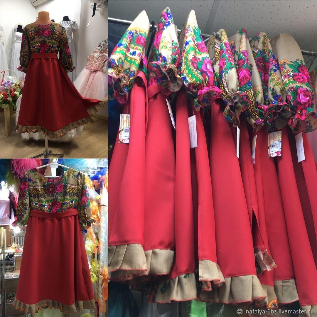русско-народные, Народные платья, Новосибирск,  Фото №1