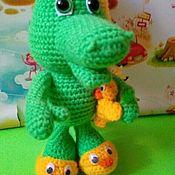 Мягкие игрушки ручной работы. Ярмарка Мастеров - ручная работа Игрушки: Крокодильчик. Handmade.