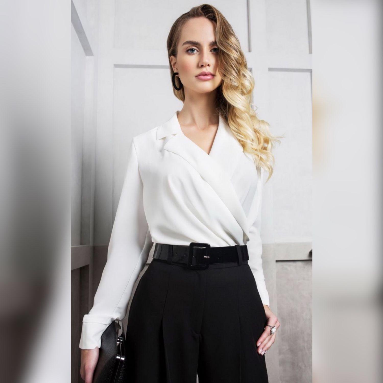 Блузка белая с запахом, Блузки, Москва,  Фото №1