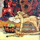 ярко-красный     интерьер русский стиль     народные промыслы     Традиции     картина лошадь     игрушка лошадь     натюрморт с игрушками     картина в детскую комнату     дорогой подарок для