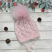 Аксессуары handmade. Livemaster - original item Knitted children`s hat made of Italian Merino. Handmade.