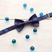 Аксессуары ручной работы. Ярмарка Мастеров - ручная работа Галстук бабочка классическая синяя. Handmade.