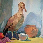 Картины и панно handmade. Livemaster - original item Painting With A Bird Still Life. Handmade.