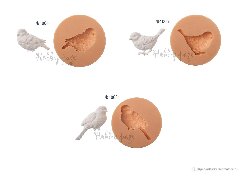 Молд № 1004, 1005, 1006 птички, Декор для декупажа и росписи, Москва,  Фото №1