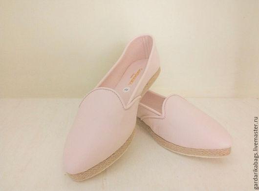 Обувь ручной работы. Ярмарка Мастеров - ручная работа. Купить Туфли летние цвета пудры. Handmade. Кремовый