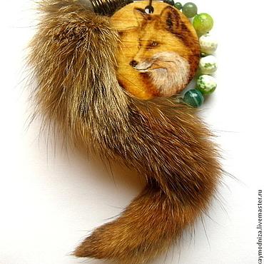 """Украшения ручной работы. Ярмарка Мастеров - ручная работа Кулон """"Рыжий лис"""". Handmade."""