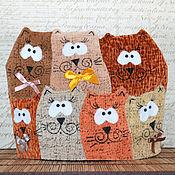 Для дома и интерьера ручной работы. Ярмарка Мастеров - ручная работа Грелка на чайник - Коты. Handmade.