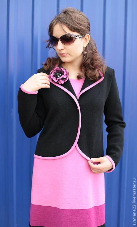 """Костюмы ручной работы. Ярмарка Мастеров - ручная работа. Купить Вязаный костюм """"Этюд в розовых тонах"""". Handmade. В полоску"""