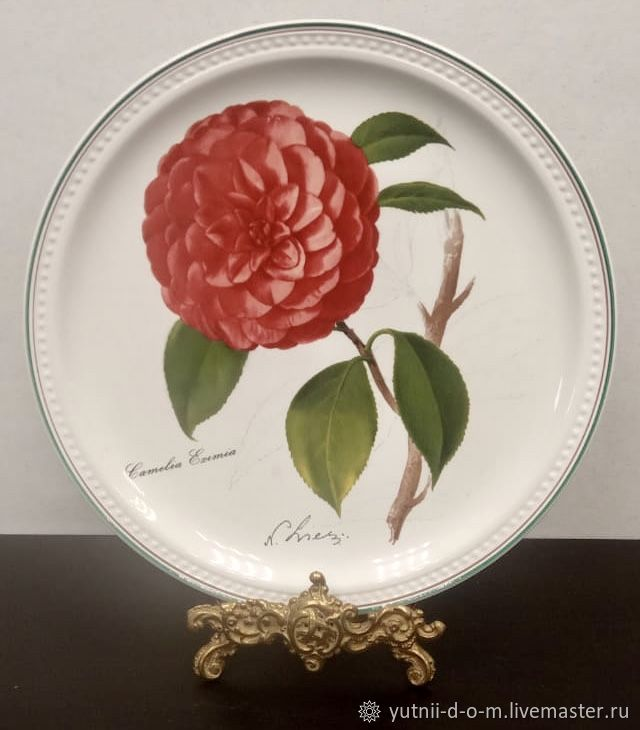 Vintage: Plate Camellia flowers Germany Villeroy Boch Villeroy, Vintage plates, Moscow,  Фото №1