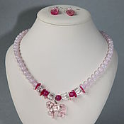 Украшения handmade. Livemaster - original item Set of author`s jewelry Pink dream for a young lady. Handmade.