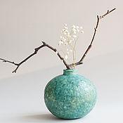 Для дома и интерьера ручной работы. Ярмарка Мастеров - ручная работа медная ваза круглая. Handmade.