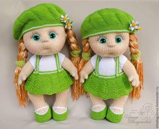 Человечки ручной работы. Ярмарка Мастеров - ручная работа. Купить Кукла Дашенька. Handmade. Вязаная игрушка, фиолетовый, ресницы искусственные