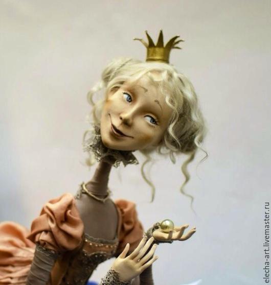 Сказочные персонажи ручной работы. Ярмарка Мастеров - ручная работа. Купить Авторская кукла из полимерной глины Принцесса на горошине. Handmade.