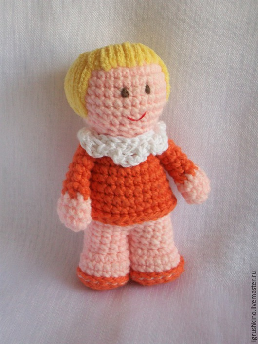 Человечки ручной работы. Ярмарка Мастеров - ручная работа. Купить Куколка. Handmade. Рыжий, хлопок 100%
