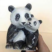 Винтаж handmade. Livemaster - original item Panda Figurine Royal Copenhagen, Denmark. Handmade.