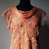 Одежда ручной работы. Ярмарка Мастеров - ручная работа Авторская блузка Оранжевое лето. Handmade.