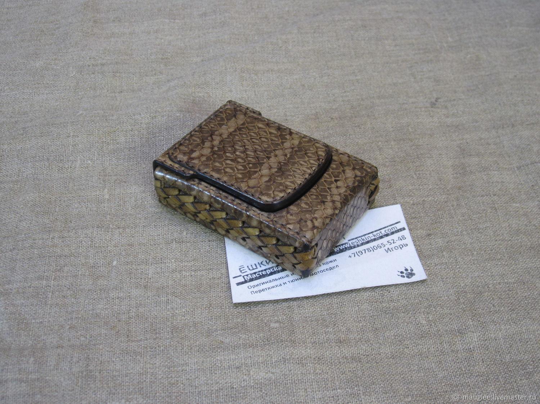 Python skin cigarette case. Regular cigarettes, Cigarette cases, Yalta,  Фото №1