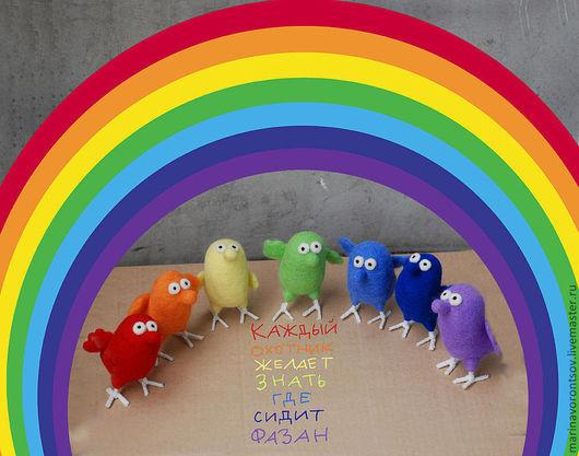 `Птичья РАДУГА` Каждый Охотник Желает Знать, Где Сидит  Фазан. Красный, Оранжевый, Жёлтый, Зелёный, Голубой, Синий, Фиолетовый.