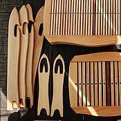 Материалы для творчества ручной работы. Ярмарка Мастеров - ручная работа Ножечелнок 2 в 1 для ткачества. Handmade.