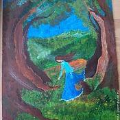 """Картины и панно ручной работы. Ярмарка Мастеров - ручная работа Картинка """"Грибной пирог"""". Handmade."""