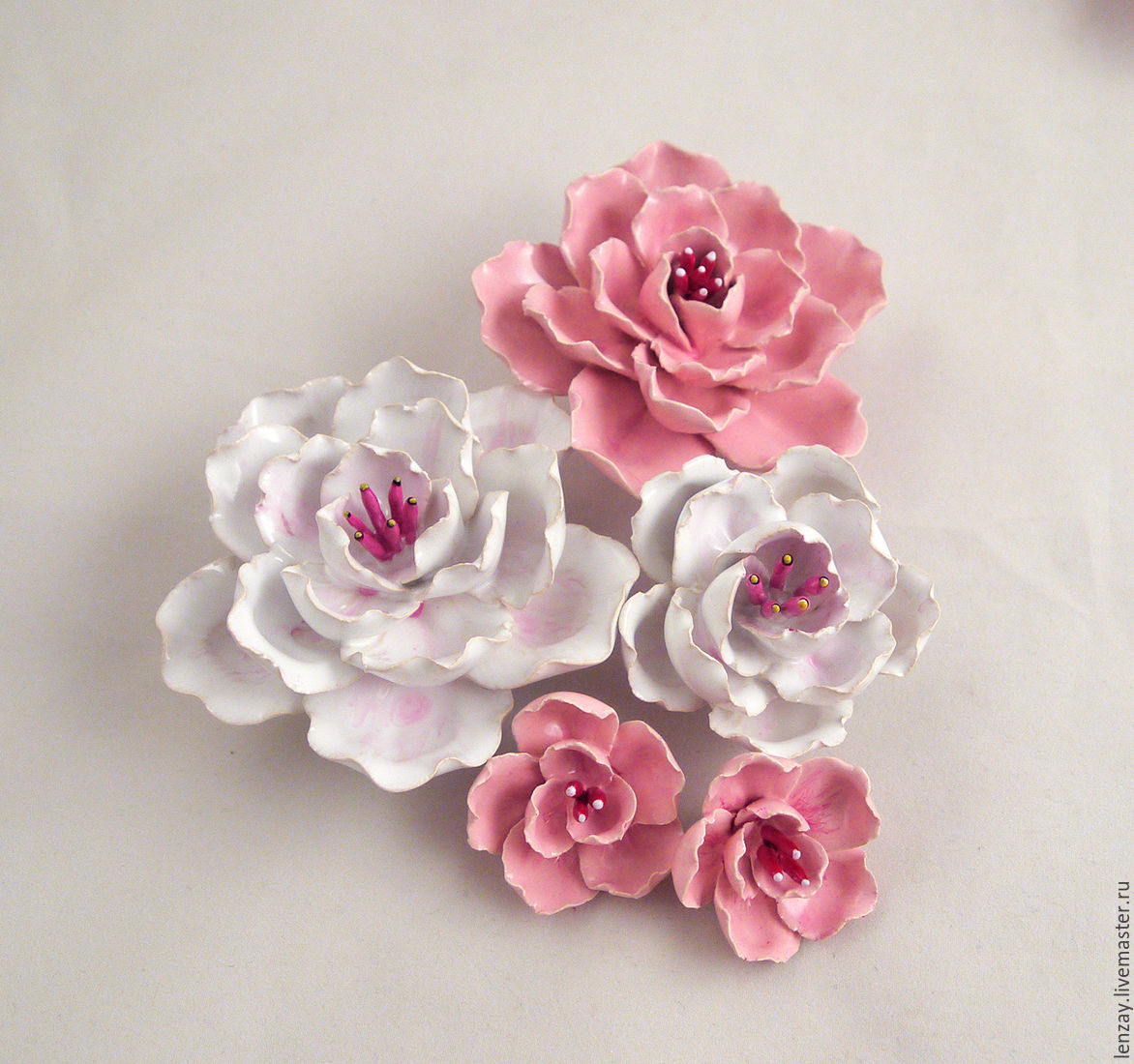 SAKURA. Ceramic flowers Elena Zaichenko