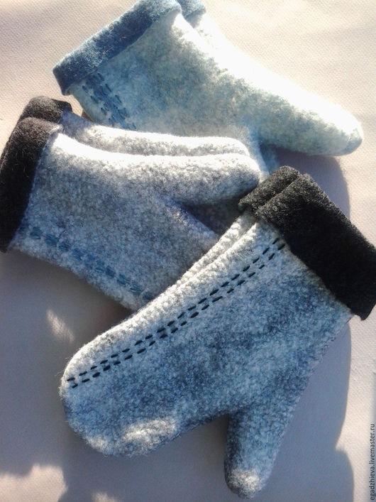 Варежки, митенки, перчатки ручной работы. Ярмарка Мастеров - ручная работа. Купить Варежки валяные мужские подарок любимому мужчине. Handmade.