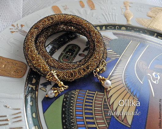 Фото Браслет Искорки в сетке, ювелирная сетка женский браслет, черная нейлоновая сетка, черный и золотой цвет, эксклюзивный подарок, колье свибловой, браслет ювелирная сетка, комплект украшений
