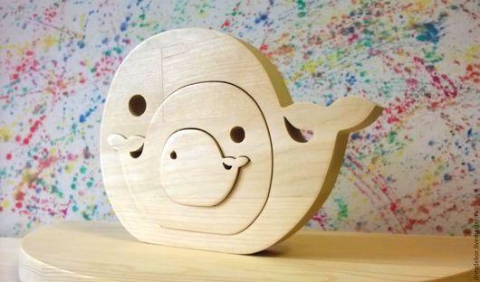 Развивающие игрушки ручной работы. Ярмарка Мастеров - ручная работа. Купить Сувенир пазл вставка киты. Handmade. Комбинированный, дерево