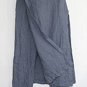 Одежда handmade. Livemaster - original item Designer pants with 100% linen skirt. Handmade.