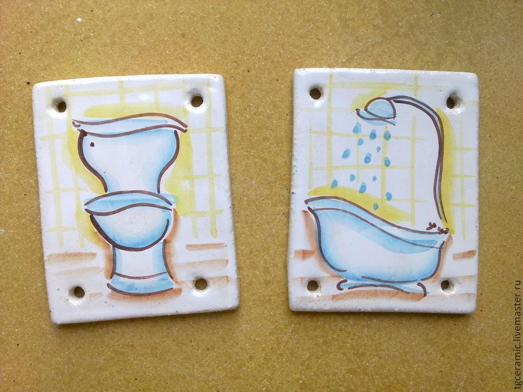 таблички на туалет и ванную для дома синтетических волокон отводит