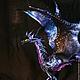 """Коллекционные куклы ручной работы. Ярмарка Мастеров - ручная работа. Купить Дракон """"Ночной""""  подвижная статуэтка из кожи. Handmade. фенетези"""
