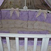 Бортики в кроватку ручной работы. Ярмарка Мастеров - ручная работа Набор в кроватку. Handmade.