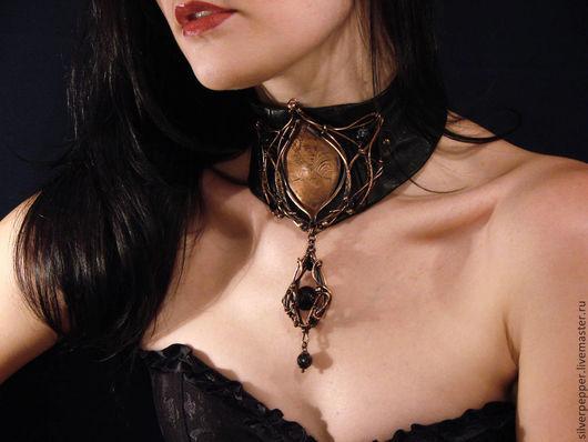 """Колье, бусы ручной работы. Ярмарка Мастеров - ручная работа. Купить Колье """"Дочь Графа Дракулы"""". Handmade. Черный"""