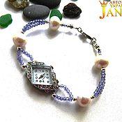 Украшения handmade. Livemaster - original item Bracelet of tanzanite (stone class AAA), freshwater pearls AA grade. Handmade.