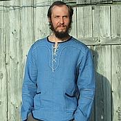 """Одежда ручной работы. Ярмарка Мастеров - ручная работа Льняная мужская рубаха """"Дарийская"""". Handmade."""