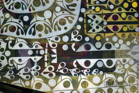 Мебель ручной работы. Ярмарка Мастеров - ручная работа. Купить Роспись столешницы. Handmade. Разноцветный, роспись мебели, роспись в интерьере