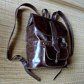 Сумки и аксессуары handmade. Livemaster - original item Brown backpack. Handmade.