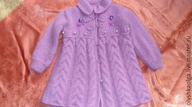 Страна мам вязание пальто для девочки 13