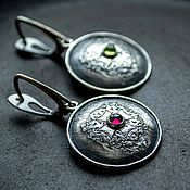 Украшения handmade. Livemaster - original item Silver earrings with natural stones, silver earrings. Handmade.