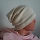 Шапки ручной работы. Ярмарка Мастеров - ручная работа. Купить шапочка из кашемира на весну-осень. Handmade. Разноцветный, модная шапка